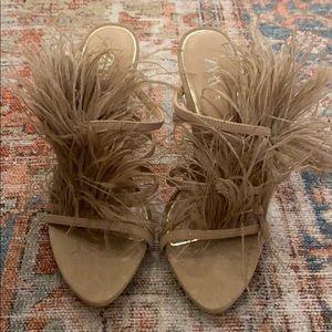 Zara feather heel
